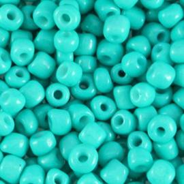 Dark turquoise bleu 6/0 4 mm.