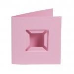Kaarten Pixel basisplaat roze  4 st.