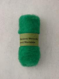 Bhedawol - gekaard vlies - 25 gr. knalgroen