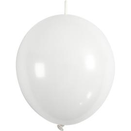 Ballonnen wit met link