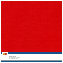 Linnen karton 30,5 x 30,5 cm. Rood