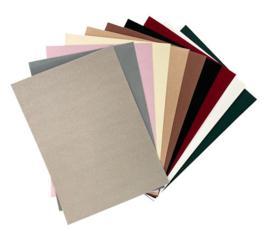 Fluweel papier 10 vel A4 - natuur/donker