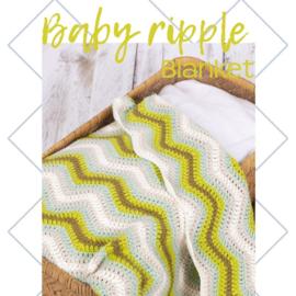 Baby Riple blanket green, levertijd 1 dag