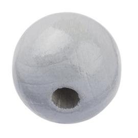 """Houten kraal """"15 mm.""""per stuk grijs"""