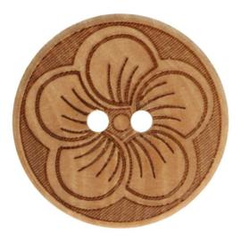 Knoop hout 32 mm. bloem