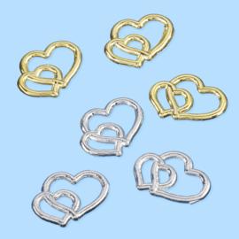 """Symbool """"harten"""" zilver 1 stuks"""