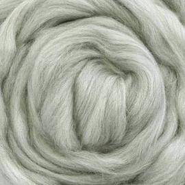 Lontwol ongeverfd 50 gram  - 483 Merino grijs blend