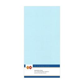 Linnen karton 13,5 x 27 cm. Babyblauw