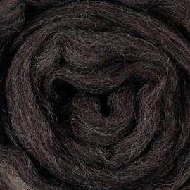 Lontwol ongeverfd 50 gram  - 430 Zwartbles