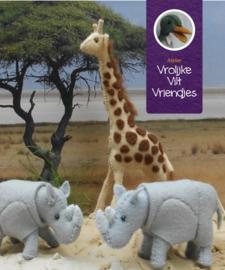 Wolvilt bruin, giraffes