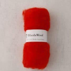 Bhedawol - gekaard vlies - 25 gr. oranje