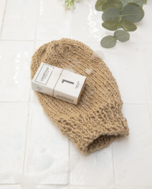 DIY breipakket scrub handschoen