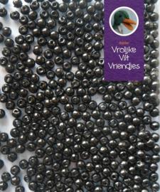Zwarte oog kraaltjes 3 mm. 20 stuks