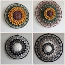 Haakpakket 4 Mandala's Sunflower en Classic
