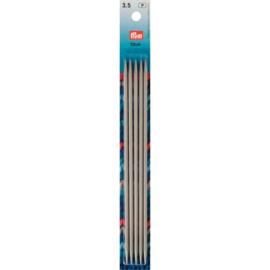 Kousen- en handschoenbreinaalden PRYM  20 cm. 3,50 mm.