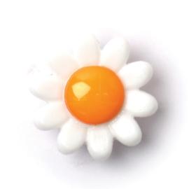 Knoop wit-oranje 3 stuks