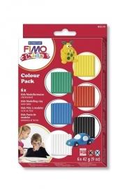 Fimo kids kleipakket 6 basiskleurtjes (6 x 42 gr.)