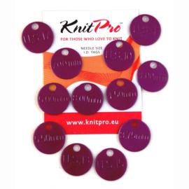 Knit Pro Maat labels voor rondbreien