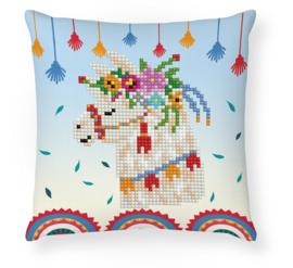 Diamond painting Llama Party Mini Pillow