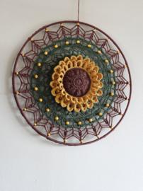Haakpakket Mandala Sunflower  LARGE 40 cm.