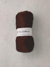 Bhedawol - gekaard vlies - 25 gr. bruin