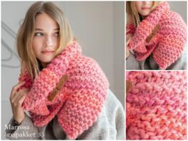 Breipakket 35 dames snood-sjaal ribbel