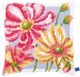 Borduurpakket Kleurige bloemen