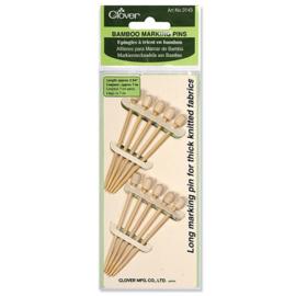 Clover markeerpennen bamboe 7 cm. 10 stuks