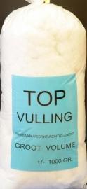 Vulling synthetisch ± 1000 gram.