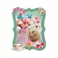 Applikatie Hamster en cupcakes