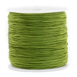 Macramé draad 0,8 mm. olive green