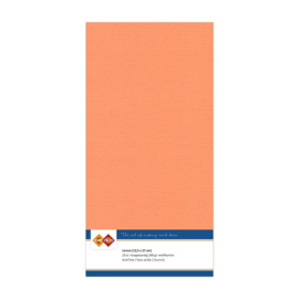 Linnen karton 13,5 x 27 cm. Zacht oranje