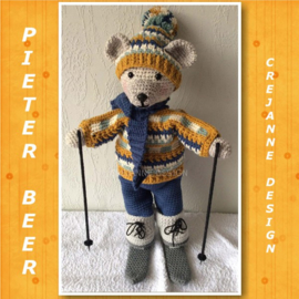 Pieter beer kledingset wintersport papieren patroon