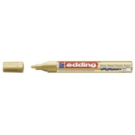 Lakmarker punt 1-2 mm. goud metallic