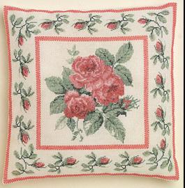 Borduurpakket kussen Rose Bouquet