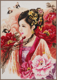 Diamond painting Asian Lady in Pink