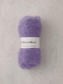 Bhedawol - gekaard vlies - 25 gr. lila
