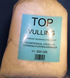 Vulling synthetisch ± 300 gram.