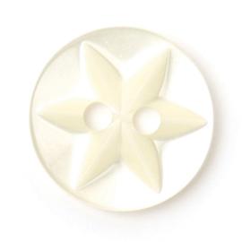 Knoop wit 8 stuks