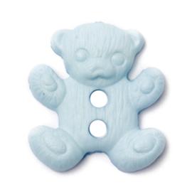 Knoop blauw  3 stuks