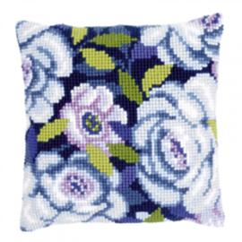 Borduurpakket Blauwe bloemen
