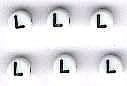 Letter porselein L per stuk