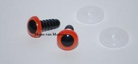 Veiligheidsoogjes oranje  6 mm. per paar
