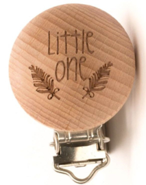 "Speenclip hout ""Litte one"""