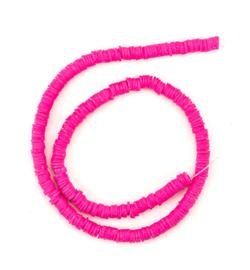 Katsuki beads 6 mm. neon pink