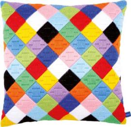 Borduurpakket Dolle kleuren (spansteek)