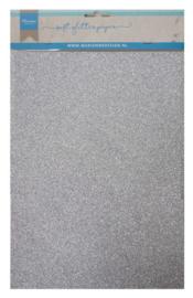 Glitter papier silver 5 x A4