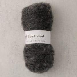 Bhedawol - gekaard vlies - 25 gr. natural mix grey
