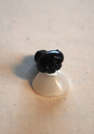 Veiligheidsneusjes zwart 8 mm. gaatjes