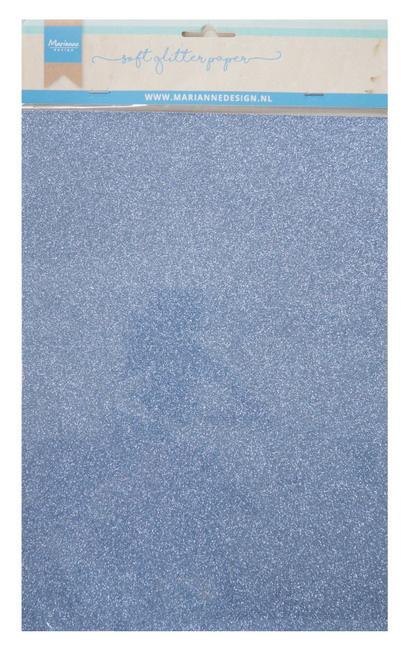 Soft glitter paper - blue 5 x A4